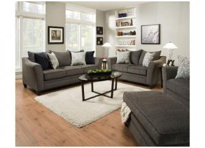 Reagan Sofa and Love Seat - Albany Pewter