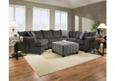 Image for Reagan 3pc Sectional - Albany Pewter