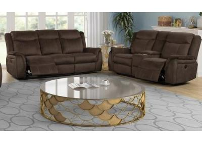 Cavett Power Dual Reclining Sofa and Power Dual Reclining Love Seat