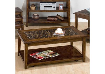 Image for Mosaic Cocktail Table with Casters
