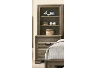 Image for Rodney 2 Drawer Nightstand with Pier Bookcase Top