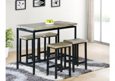 Lindsey 5pc Counter Height Dining Set - Grey