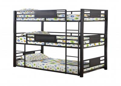 Jupiter Triple Dark Bronze Bunk Bed