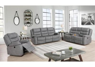 Granada Dual Reclining Sofa and Dual Reclining Love Seat - Gray