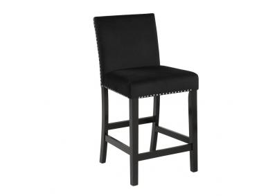 Image for Cecilia 24 inch Black Barstool - Sold as a Set of 2