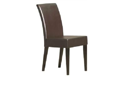 Paula Dark Brown Side Chair - Set of 2