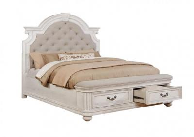 Image for Lanett Platform Storage Bed with Padded Footboard - California King