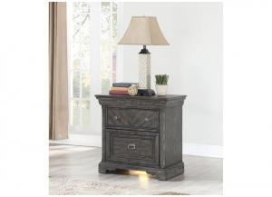 Santa Fe 3 Drawer Nightstand with Night Light and USB Charging Station