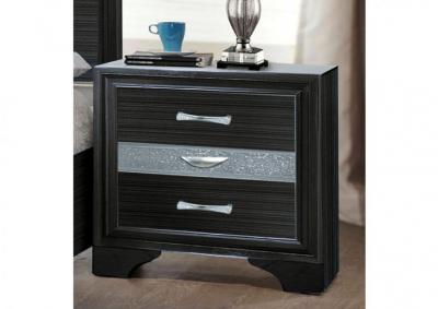 Jewel Black Nightstand