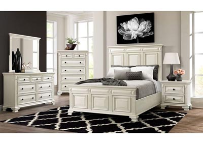 Calloway White Panel Bedroom Set - Eastern King