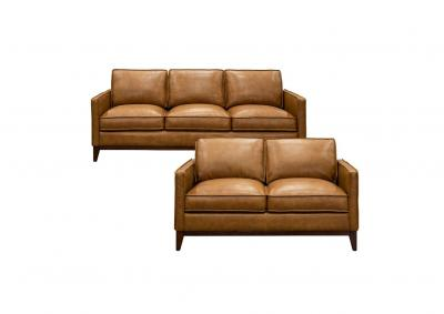 Image for Newport Top Grain Leather Sofa and Love Seat