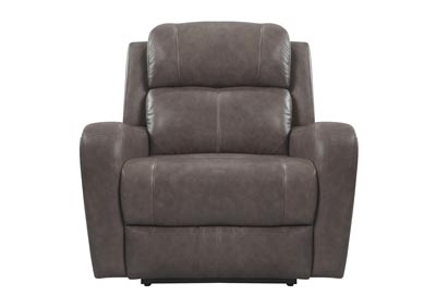 Image for Cortana Top Grain Leather Power Recliner Gray