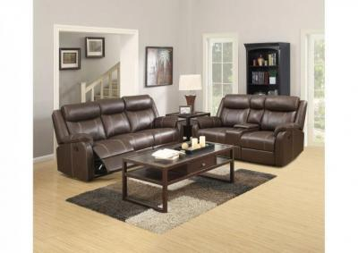 Domino Dual Reclining Sofa and Love Seat
