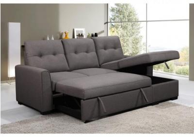 Florenzo Media Sofa Chaise with Storage and Pull Out / Pop Up Ottoman