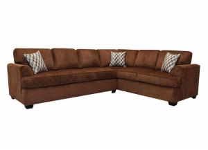 Image for Jana 2pc Sectional with Queen Sleeper - Bark