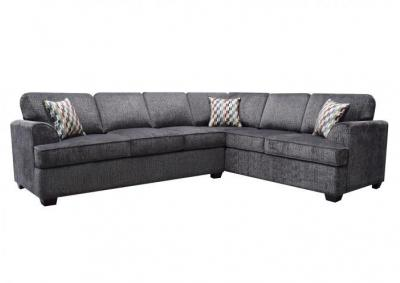Jana 2pc Sectional with Queen Sleeper Charcoal