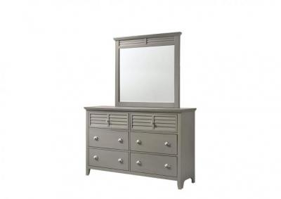 Image for Jazz 6 Drawer Dresser and Beveled Mirror - Gray