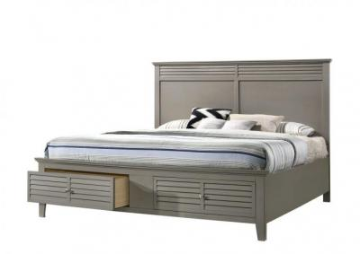 Jazz Gray Platform Storage Bed - Twin