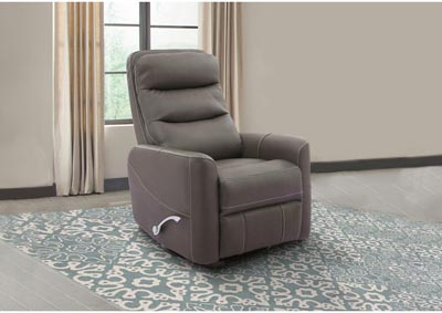 Image for ZEUS MANUAL SWIVEL RECLINER GRAY