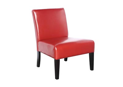 Gemini Armless Club Chair - Red