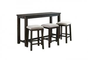 Stonebrook Slim Counter Height Table with 3 Stools