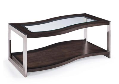 Jag Rectangular Cocktail Table with Castors
