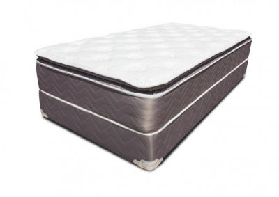 Value Comfort Pillow Top Mattress and Foundation - Queen