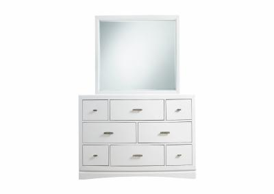Image for Toro 8 Drawer Dresser and Mirror - White