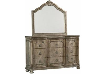 Image for Dorado 9 Drawer Dresser and Beveled Mirror