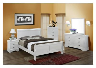 Louis Philip White Bedroom Set - Queen