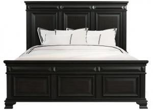 Image for Calloway Black Panel Bed - Queen