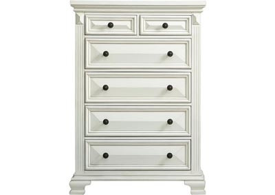 Image for Calloway 6 Drawer Chest - White