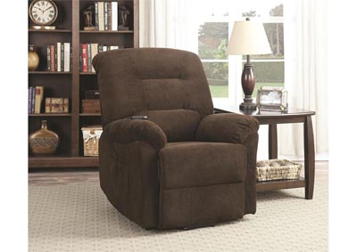 Maverick Power Lift Reclining Chair - Chocolate