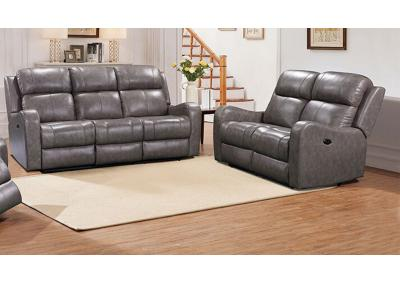 Image for Cortana Top Grain Leather Power Reclining Sofa and Power Reclining Love Seat
