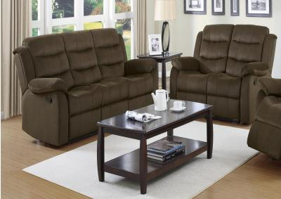 Dennis Dual Reclining Sofa and Dual Reclining Loveseat