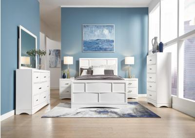 Toro Queen Storage Panel Bedroom Set - White