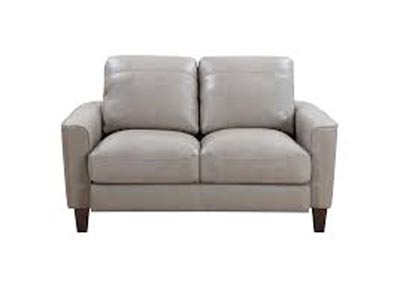 Image for Chino Top Grain Leather Love Seat - Beige