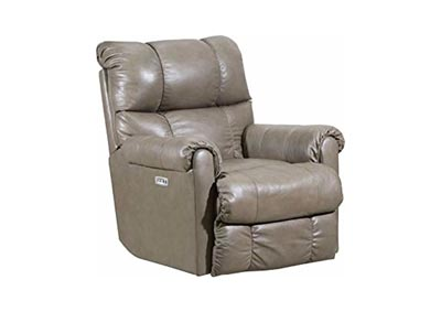 Lane  June Leather Power Rocker Recliner with Heat and Massage Taupe