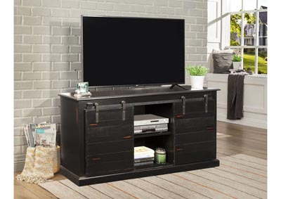 Image for Country Barn Door 62 ³ TV STAND- Vintage Black