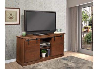 Image for Country Barn Door 62 ³ TV STAND- Brown