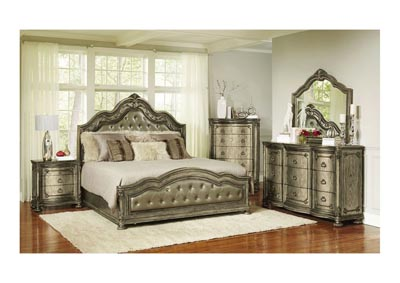 Dorado Padded Panel Bedroom Set - Eastern King