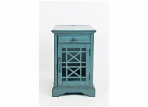Image for Craftsman Power Chairside Table - Antique Blue