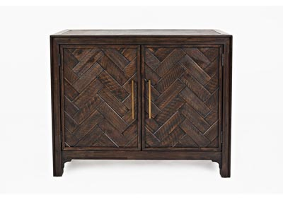 Image for Gramercy 2 Door Accent Cabinet - Dark Chevron