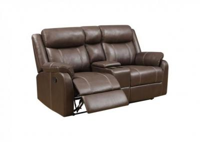 Image for Domino Dual Reclining Loveseat with Console