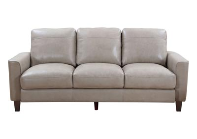 Chino Top Grain Leather Sofa - Beige