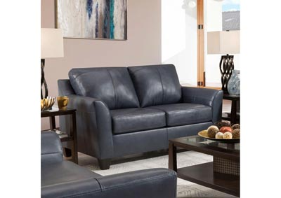 Image for Lane Furniture  Grant Top Grain Leather / Mate Love Seat Shale