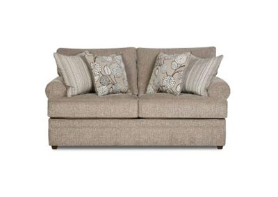 Simmons Roosevelt Stationary Love Seat - Pewter