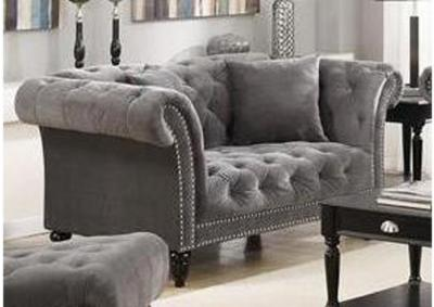 Twain Love Seat - Broadway Gun Metal