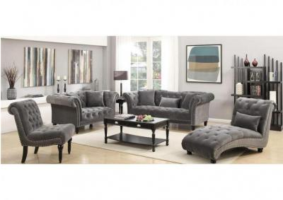 Image for Twain 3pc Sofa, Love Seat, and Armless Chair - Broadway Gun Metal