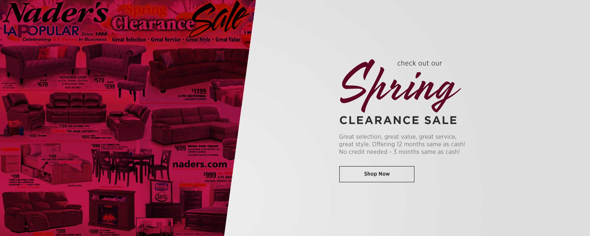 Spring Clearance Sale - View Ad